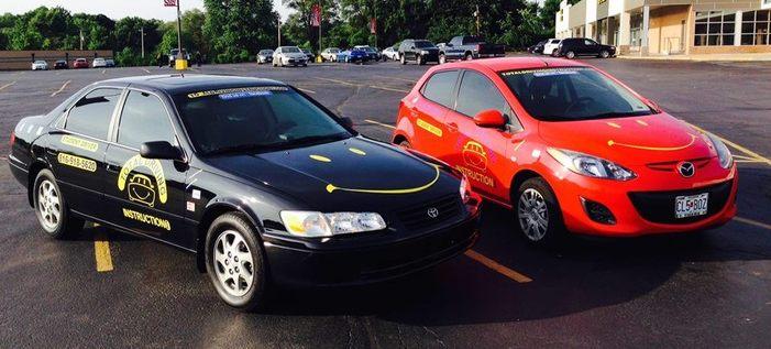2 driving class cars